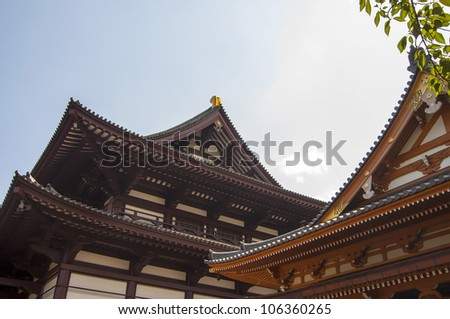 Typical structure of Eastern temples in Japan