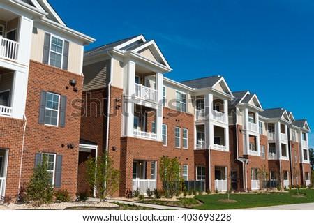 Typical suburban apartment building