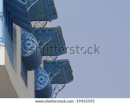 Typical tunisian facades