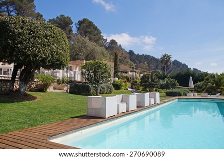 Typical vacation house with a pool in the Southern part of France