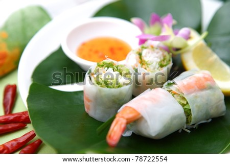"Typical Vietnamese food?""summer roll"""