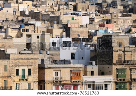 Typical view of Malta city