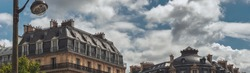 Typical view of the Parisian buildings
