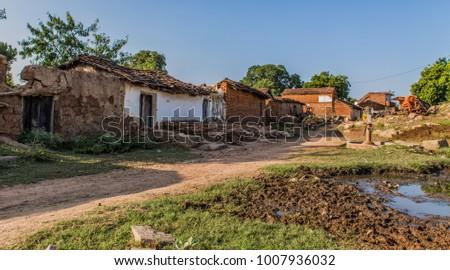 Typical village buildings - Kajuraho India #1007936032