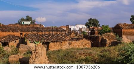 Typical village buildings - Kajuraho India #1007936206