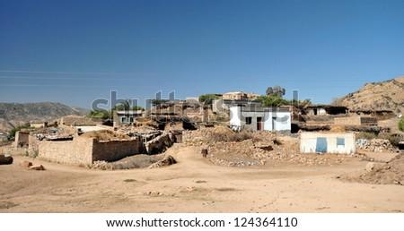 Typical village in Eritrea.