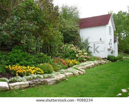 Typical Wisconsin Backyard Flower Garden, Door County