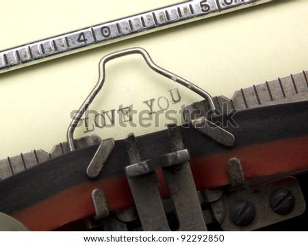 Typing machine message