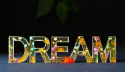 Typographic dream word decoration and inspiration