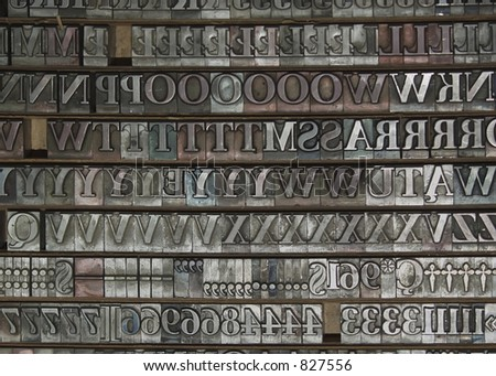 typography - stock photo