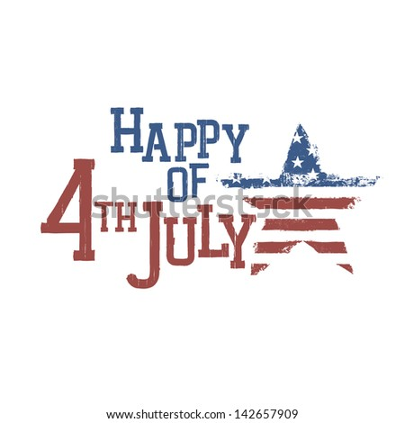 Typography for Fourth July Celebration. Raster version, vector file available in portfolio.