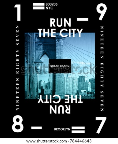 Typography with New York photo for t shirt printing, Graphic t shirt & Printed t shirt #784446643