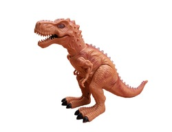 Tyrannosaurus dinosaur, children's toys isolated on a white background