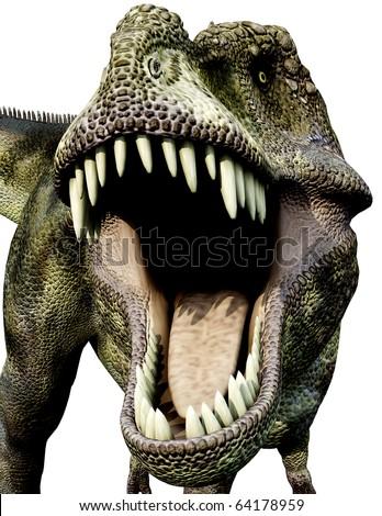 Tyrannosaurus green big mouth