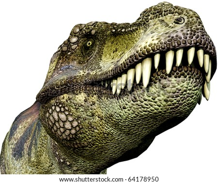 Tyrannosaurus green close up