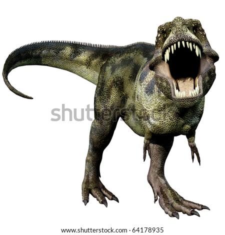 Tyrannosaurus green defend