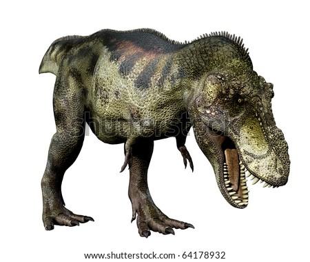 Tyrannosaurus green eat