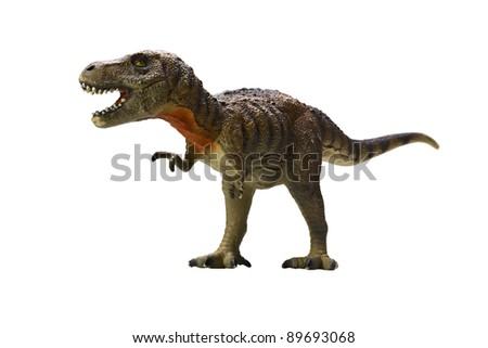 tyrannosaurus-rex on white background