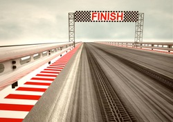 tyre drift on race circuit finish line illustration