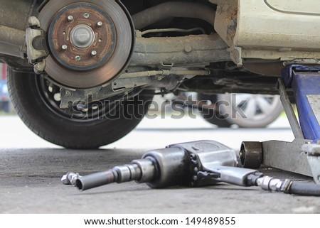 Tyre repair in the garage room service