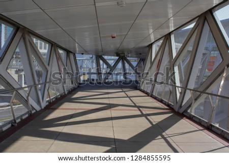 Tyson Corner/Virginia/United States - November 17th 2018: Tyson Corner Metro - Subway Station #1284855595