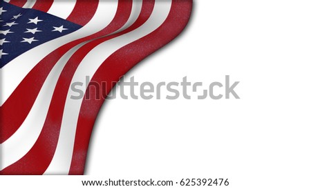 U.S.A. flag. 3D rendering #625392476