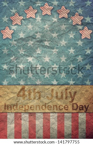 U.S.A. Flag for July 4th for Vintage