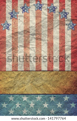 U.S.A. Flag for July 4th, Labor Day