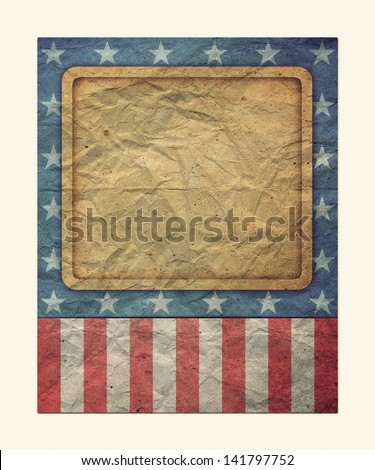 U.S.A. Flag for July 4th, Labor Day for Vintage