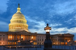 U.S. Capitol at night - Washington D.C. United States