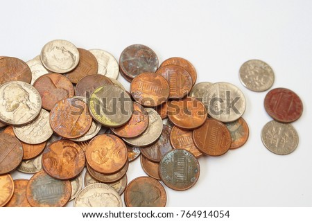 U.S Coin on white background