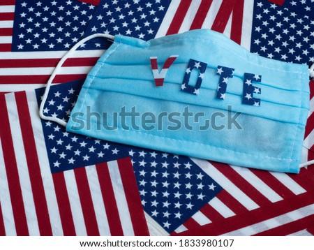 U.S. elections 2020. Coronavirus epidemic. Protective medical mask background. Foto stock ©