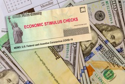 U.S. Federal cash Incentive Coronavirus COVID-19 on global pandemic lockdown stimulus package financial relief package from government