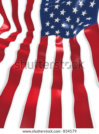 U.S. Flag Background 3D