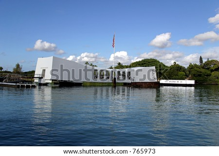 U.S.S. Arizona Memorial at Pearl Harbor in Honolulu, Hawaii.