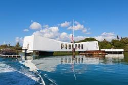 U.S.S. Arizona Memorial in Pearl Harbor.
