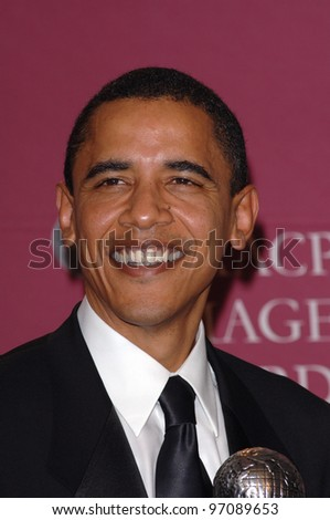 U.S. Senator BARACK OBAMA at the 36th Annual NAACP Image Awards in Los Angeles. March 19, 2005: Los Angeles, CA.  Paul Smith / Featureflash