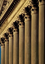 U.S. Supreme Court Building facade and columns