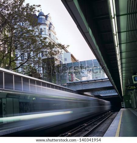 U4 subway in Vienna, Austria, station Margaretengurtel