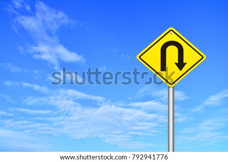 U-Turn Roadsign, a road sign