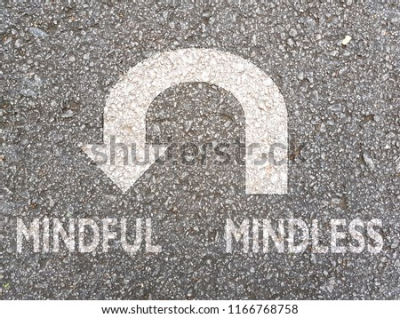 U-turn sign from Mindless To Mindful #1166768758