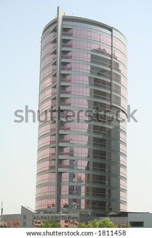 UAE. Dubai. Pink skyscraper