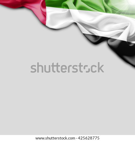 UAE flag and Plain background