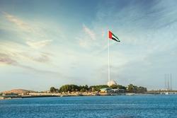 UAE flag at Corniche Abu dhabi