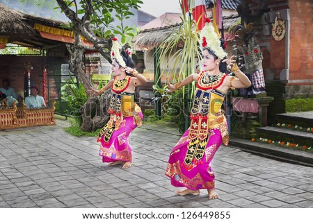 UBUD, BALI, INDONESIA - APRIL 01: Barong Dance show, the traditional balinese performance on April 01, 2011 in Ubud, Bali, Indonesia.