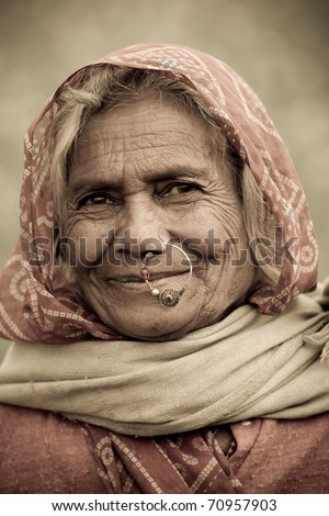 -india-circa-january-an-old-indian-woman-with-traditional-nose-ring