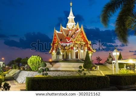 Udonthani city pillar shrine, Famous place to travel at Udonthani, Thailand