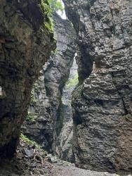 Ueble Schlucht, a canyon at Laterns, Austria
