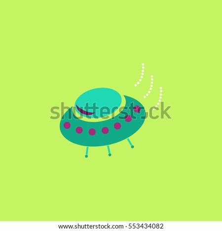 UFO Icon Illustration. Flat simple color pictogram