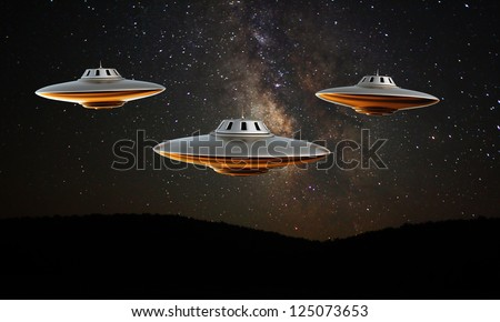 ufo isolated under the stars